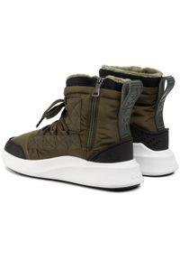 Zielone buty zimowe Pajar z cholewką