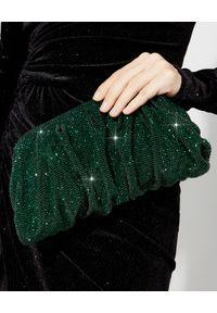 BENEDETTA BRUZZICHES - Zielona kopertówka z kryształów Venus Emerald Large. Kolor: zielony. Wzór: aplikacja