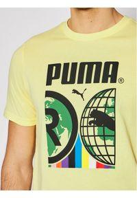 Puma T-Shirt Intl 599804 Żółty Regular Fit. Kolor: żółty #3