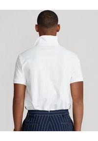 Białe polo z krótkim rękawem Ralph Lauren z nadrukiem, polo, długie, sportowe