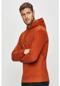 Pomarańczowa bluza nierozpinana Tom Tailor Denim na co dzień, z kapturem, casualowa