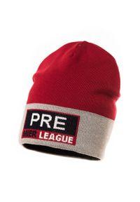 Czerwona czapka Jamiks z nadrukiem