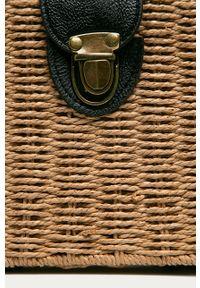 Złota torba plażowa ANSWEAR mała, na ramię