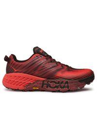 Czerwone buty do biegania Hoka One One z cholewką