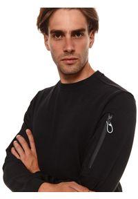 TOP SECRET - Bluza nierozpinana z suwakami. Kolor: czarny