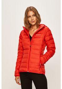 Czerwona kurtka columbia na co dzień, z kapturem, casualowa