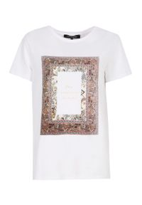 Biały t-shirt TOP SECRET z krótkim rękawem, na wiosnę
