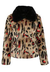 Beżowa kurtka TOP SECRET na co dzień, elegancka, na jesień, krótka