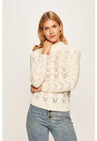 Biały sweter Morgan casualowy, na co dzień, w ażurowe wzory