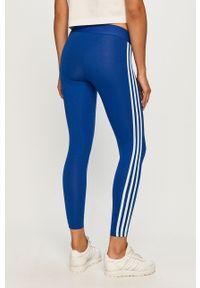 Niebieskie legginsy Adidas z aplikacjami
