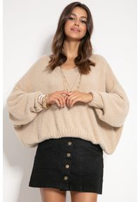 Beżowy sweter Fobya