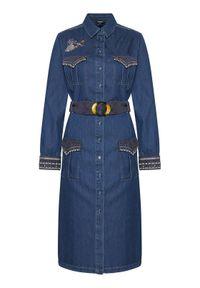 Niebieska sukienka koszulowa Desigual #5