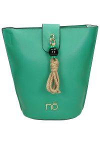 Nobo - Torebka damska zielona NOBO NBAG-I1600-C008. Kolor: zielony. Dodatki: z breloczkiem. Materiał: skórzane