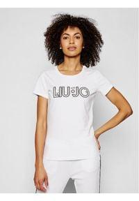 Liu Jo Sport T-Shirt TA1026 J5003 Biały Regular Fit. Kolor: biały. Styl: sportowy