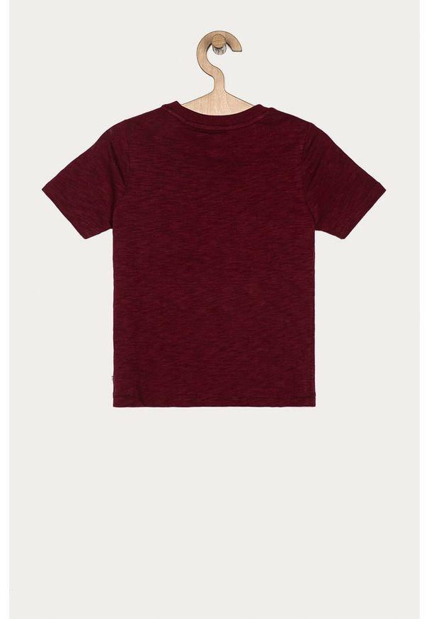 Brązowy t-shirt GAP z aplikacjami, casualowy
