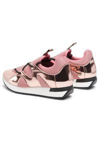 Różowe buty sportowe Pollini