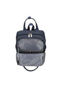 """Wittchen - Męski plecak z kieszenią na laptopa 15,6"""" metaliczny. Kolor: niebieski. Materiał: nylon. Wzór: paski #6"""