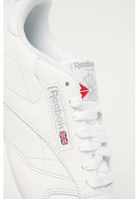 Reebok Classic - Buty skórzane Cl LTHR. Nosek buta: okrągły. Zapięcie: sznurówki. Kolor: biały. Materiał: skóra. Model: Reebok Classic