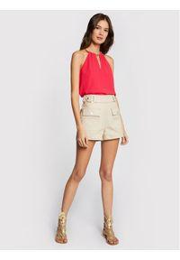 Morgan Bluzka 211-ORINES Różowy Regular Fit. Kolor: różowy #4