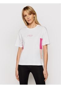 Fila T-Shirt Jaelle 683293 Biały Regular Fit. Kolor: biały