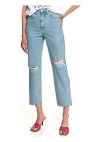 TOP SECRET - Denimowe spodnie boyfriend. Kolor: niebieski. Materiał: tkanina, jeans. Sezon: lato