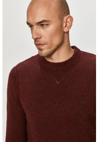 Brązowy sweter Calvin Klein długi, casualowy, na co dzień