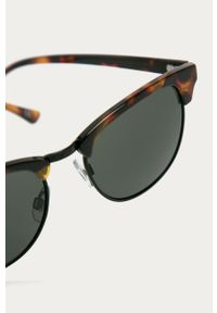 Brązowe okulary przeciwsłoneczne Vans gładkie