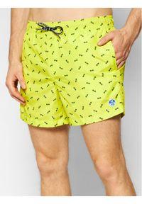 North Sails Szorty kąpielowe Volley Allover 673476 Żółty Regular Fit. Kolor: żółty #1