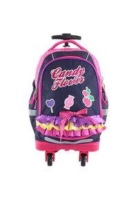 Fioletowy plecak Target w kolorowe wzory