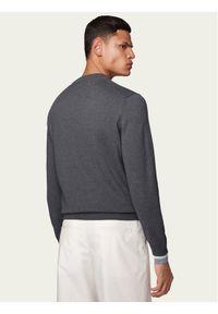 Szary sweter klasyczny BOSS