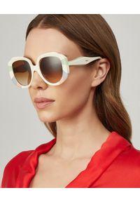 Beżowe okulary przeciwsłoneczne Chloe z aplikacjami