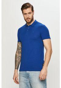Niebieska koszulka polo Tom Tailor polo, na co dzień, gładkie, krótka
