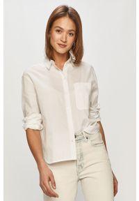 Biała koszula Marc O'Polo długa, klasyczna, gładkie, na co dzień