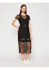 Czarna sukienka Liu Jo Sport prosta, na co dzień, casualowa