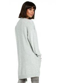 Sweter melanż, długi, z długim rękawem