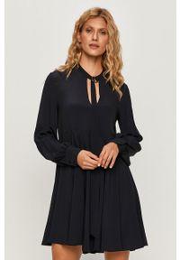 Niebieska sukienka Sportmax Code casualowa, na spotkanie biznesowe, mini