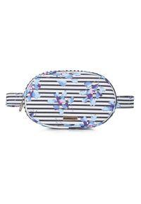 Wittchen - Damska torebka nerka pudełkowa. Kolor: niebieski, biały, wielokolorowy. Materiał: skóra ekologiczna. Styl: sportowy, elegancki
