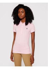 Polo Ralph Lauren Polo Julie 211505654112 Różowy Slim Fit. Typ kołnierza: polo. Kolor: różowy