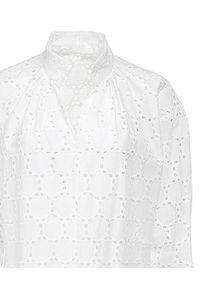 ANIA KUCZYŃSKA - Sukienka z bawełnianej koronki Mezzogiorno Bianco. Kolor: biały. Materiał: koronka, bawełna. Długość rękawa: długi rękaw. Wzór: koronka. Sezon: lato. Długość: midi