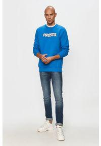 Niebieska bluza nierozpinana Prosto. bez kaptura, na co dzień #5
