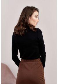 Marie Zélie - Spódnica Guarea czekoladowa. Okazja: na co dzień. Kolor: brązowy. Materiał: bawełna, dzianina, materiał, elastan, skóra, guma. Styl: casual