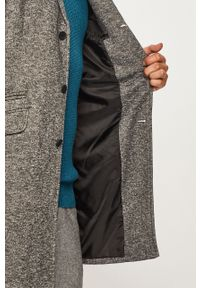 Szary płaszcz Only & Sons bez kaptura, casualowy