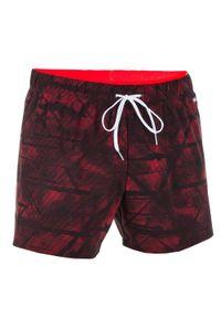 NABAIJI - Szorty Pływackie Krótkie 100 Tex Męskie. Kolor: czerwony. Materiał: poliamid, materiał, elastan. Długość: krótkie