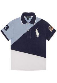 Niebieski t-shirt polo Polo Ralph Lauren polo