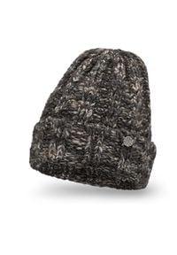 PaMaMi - Ciepła czapka damska z wełną PaMaM- Czarny. Kolor: czarny. Materiał: wełna, poliester