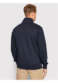 TOMMY HILFIGER - Tommy Hilfiger Bluza Logo Full Zip Mock Neck MW0MW19360 Granatowy Regular Fit. Kolor: niebieski