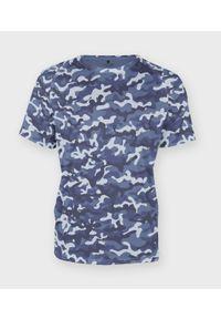 Niebieski t-shirt MegaKoszulki moro