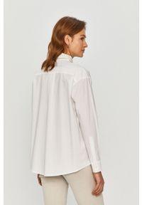 Biała koszula Pinko z klasycznym kołnierzykiem, na co dzień, długa