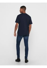 Only & Sons - ONLY & SONS T-Shirt Dion 22017727 Granatowy Regular Fit. Kolor: niebieski