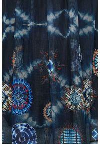 Niebieska bluzka Desigual na co dzień, długa